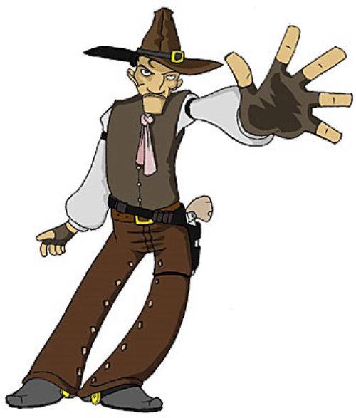 Cowboy desenho animado