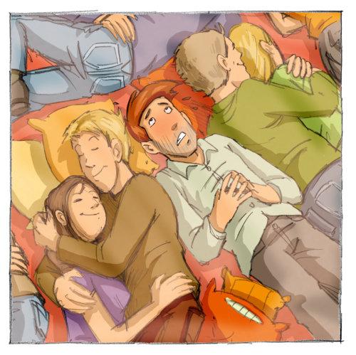 Ilustração de abraço de casal