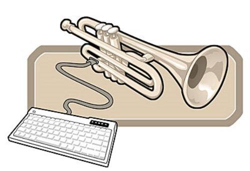 Ilustração do teclado Trompete