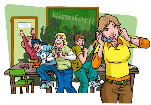 Alunos desfrutando na aula