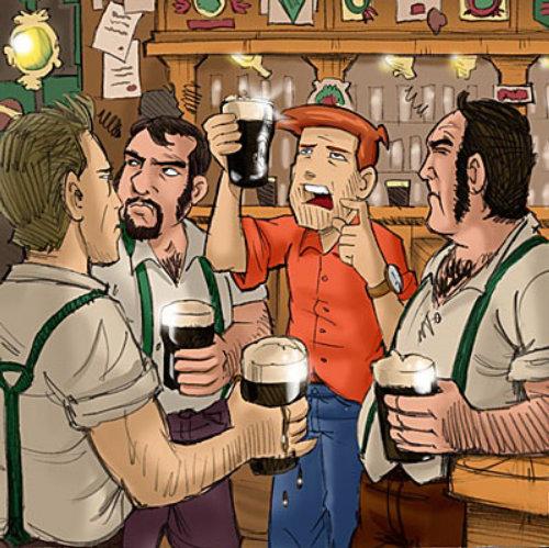 Cartoon e humor bar irlandês