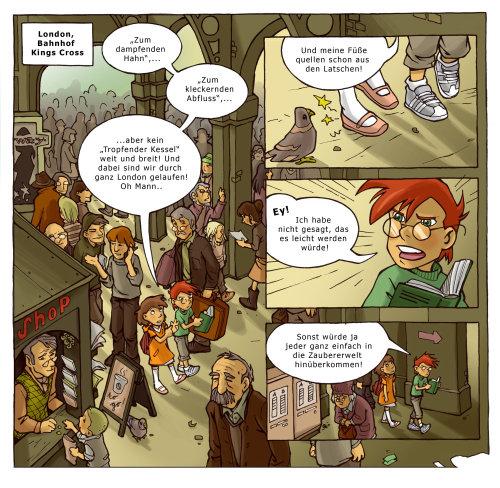 Ilustração do livro cômico de crianças