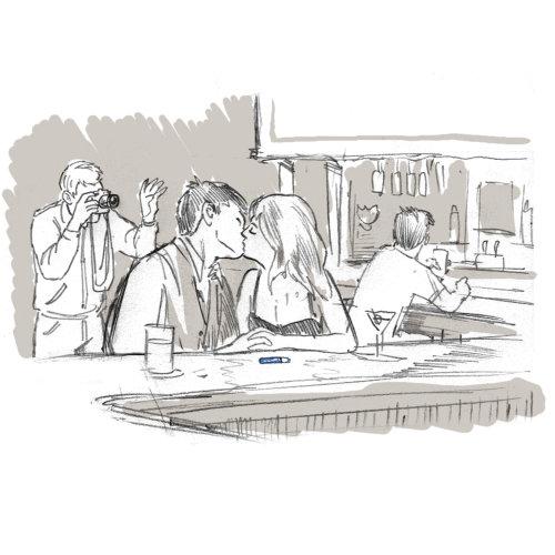 Ilustração da linha Kissbar