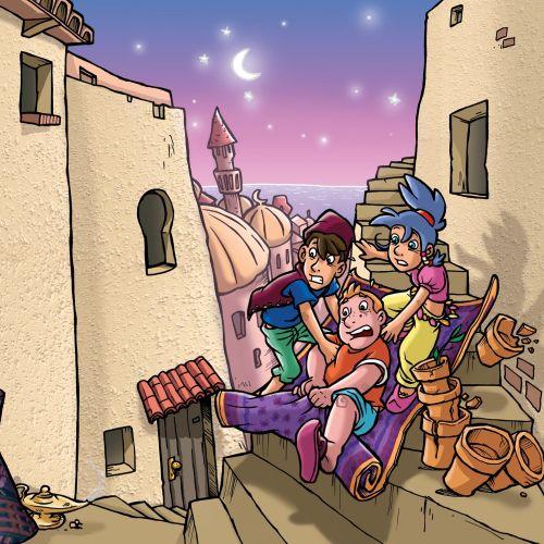 Illustration of kids cartoon characters