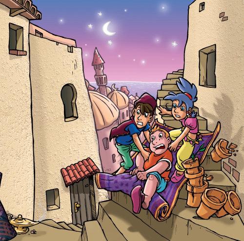 Ilustração de personagens de desenhos animados de crianças