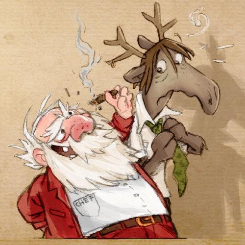 Personagens de desenhos animados de Natal