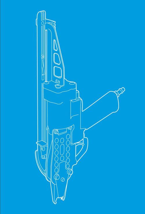 ilustração de pistola pressluft