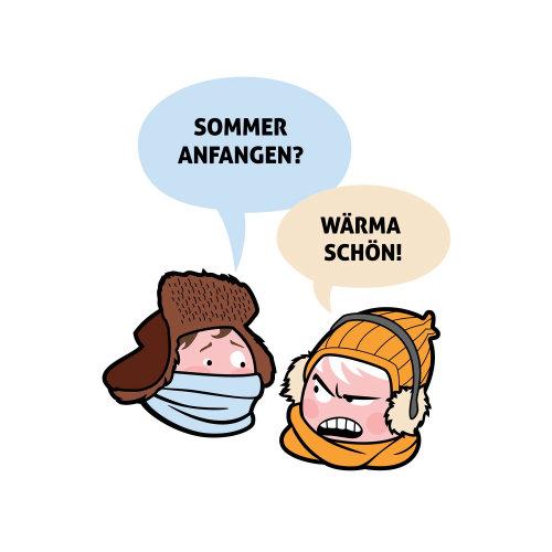 Personagens de desenhos animados de inverno