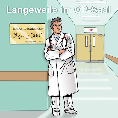 Médico no hospital - Uma ilustração de Mueller Wegner