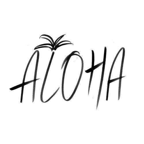 Lettrage Aloha