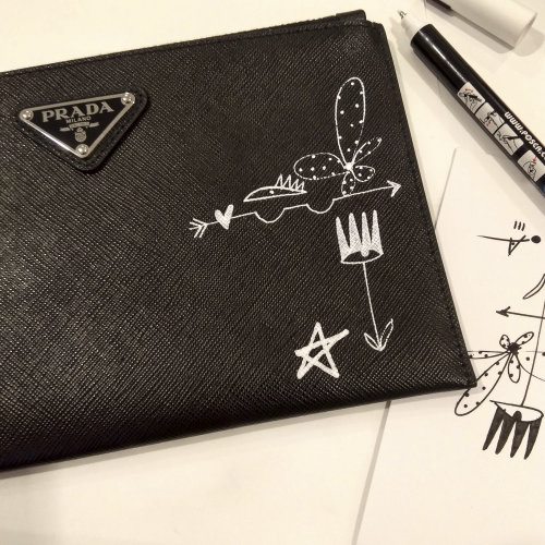 Graphic Prada scribble