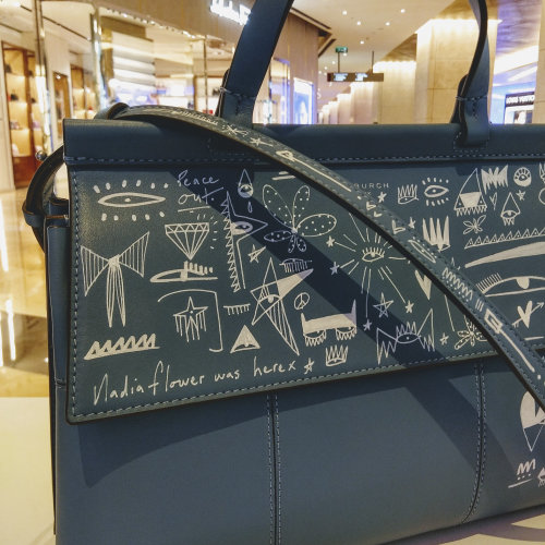 Graphic art on a bag