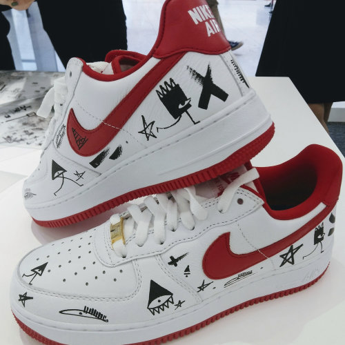 Black and White graphic on nike shoes