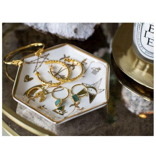 Graphic art of jewellery box