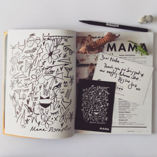 Black & White scribbles book page