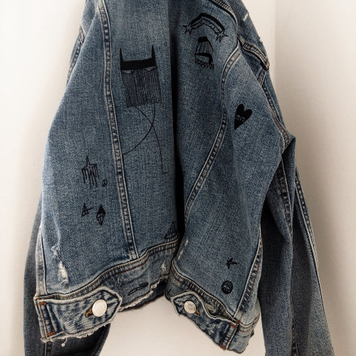 Graphic art on Jeans shirt