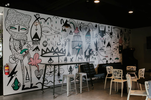 Pop Scribble on wall