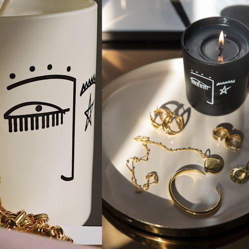 Decorative cups scribbling