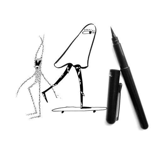 character design using pen