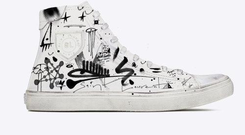 Graphic art on shoe