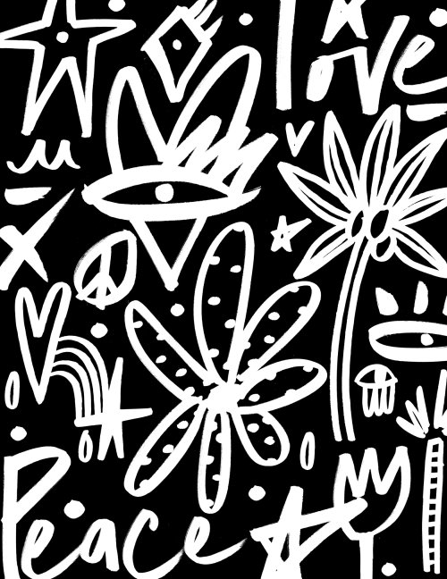 Black and white graphic pattern