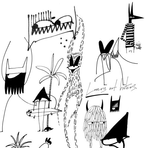 Black & White scribble characters