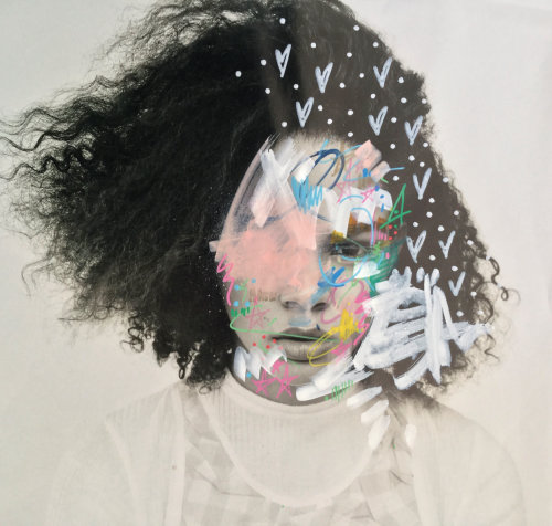 Graphic art on human face