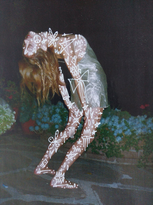 Graphic art on model body