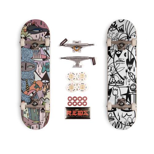Graphic skateboard art