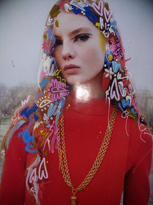 decorative on woman model