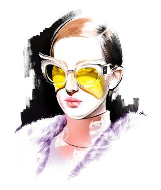 Portrait of a stylish lady
