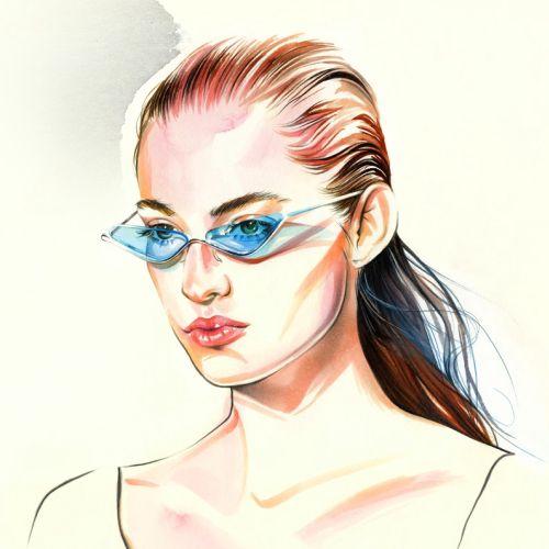 Watercolour art of a beautiful lady