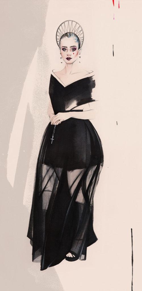 Woman in Met Gala fashion