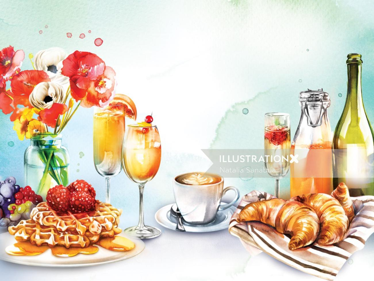 Graphic design of brunch
