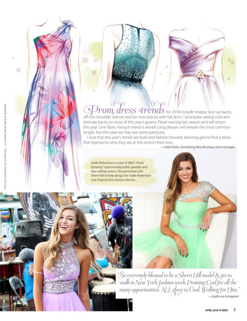 Editorial illustration on Prom dress trends