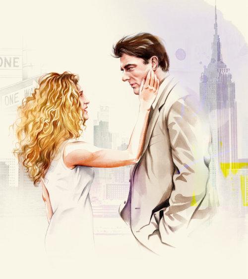Romantic couple painting