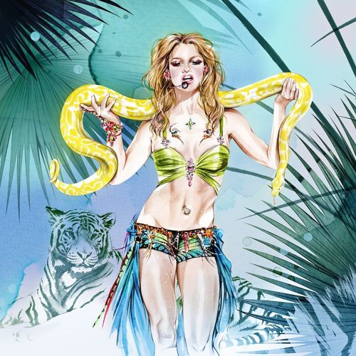 illustration of britney spears