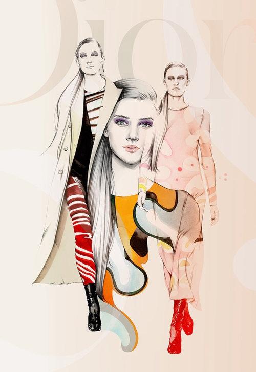 Fashion models ramp walk
