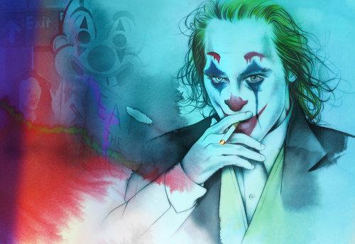Joaquin Phoenix joker portrait