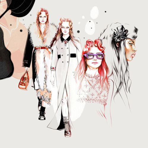 Natalia Sanabria International Fashion & Beauty illustrator. Costa Rica