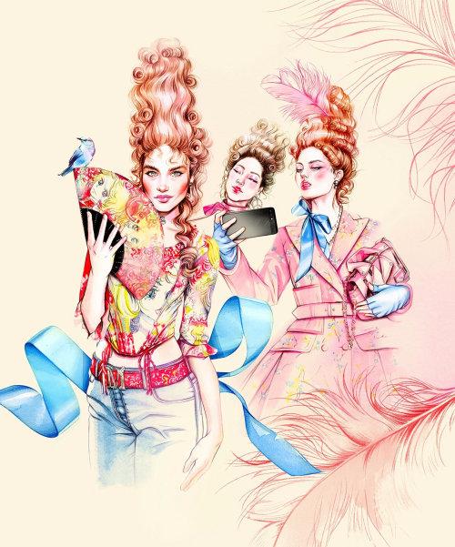 Marie Antoinette fashion style