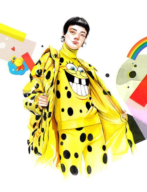 Girl in SpongeBob fashion