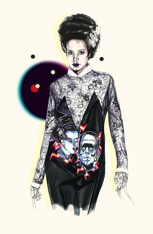 Punk fashion girl illustration