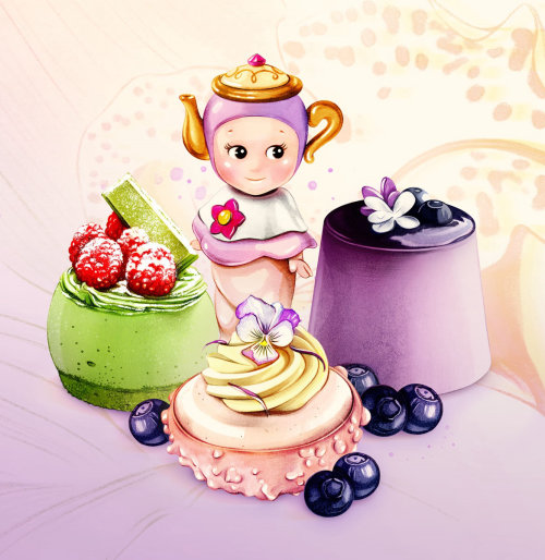 Delicacies cakes realistic art