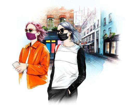 Fashion girls illustration by Natalia Sanabria