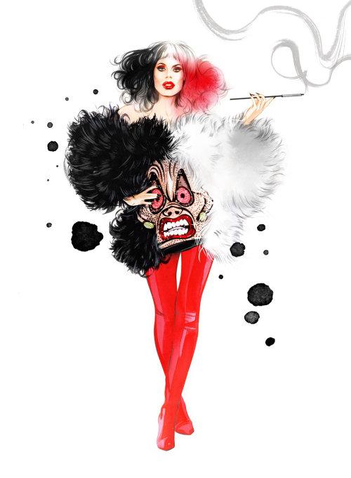 Fashion girl illustration by Natalia Sanabria