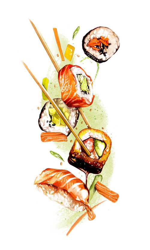 Fish tikka photorealistic art