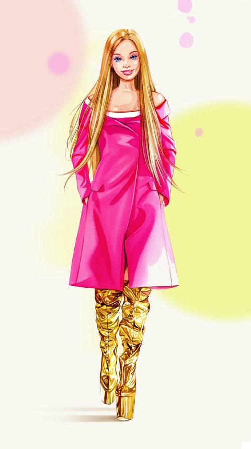 Contemporary art of Barbie Doll
