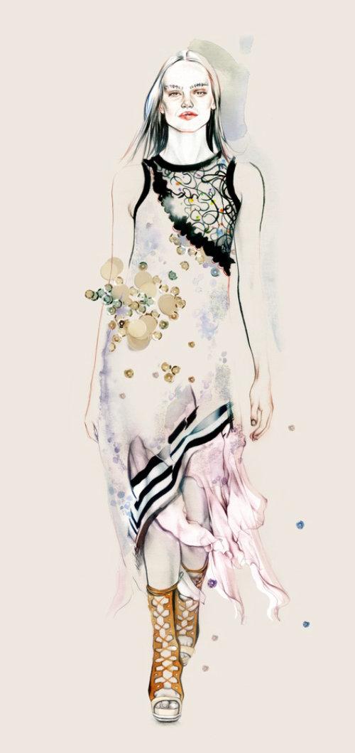 Realistic art of Fashion Lady