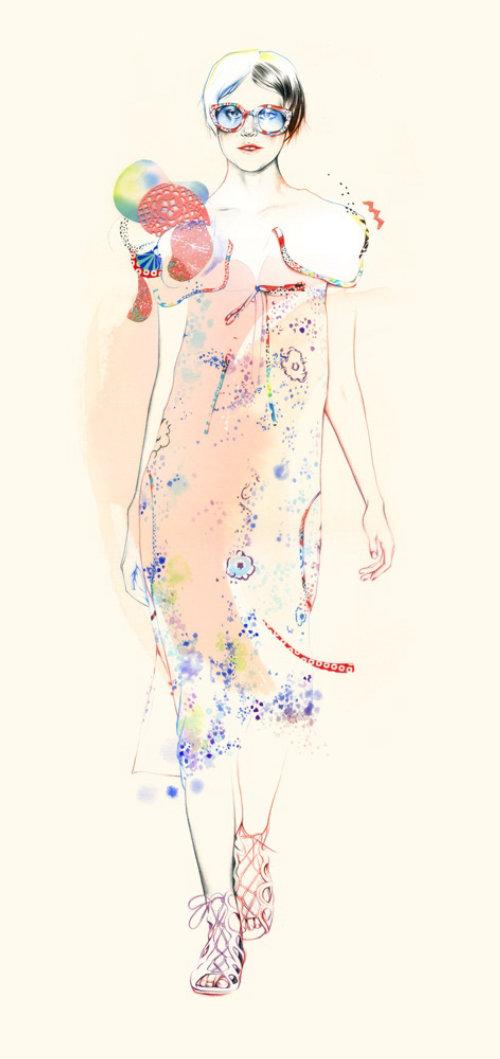 Fashion Lady illustration by Natalia Sanabria